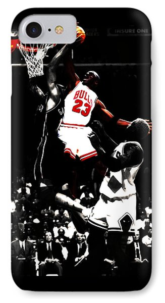 Michael Jordan Not In My House IPhone Case by Brian Reaves