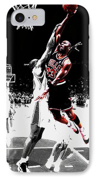 Michael Jordan Over The Top IPhone Case by Brian Reaves