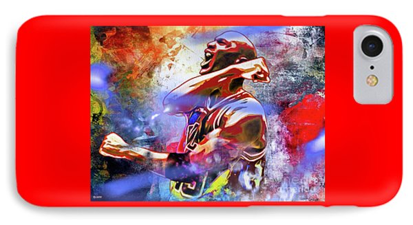 Michael Jordan Painted IPhone Case