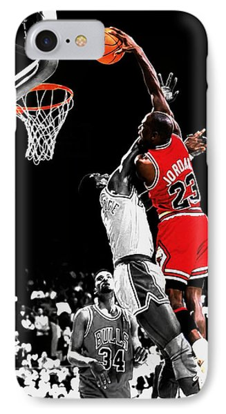 Michael Jordan Power Slam IPhone Case by Brian Reaves