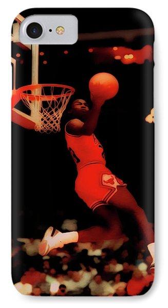 Michael Jordan Reverse Dunk IPhone Case by Brian Reaves
