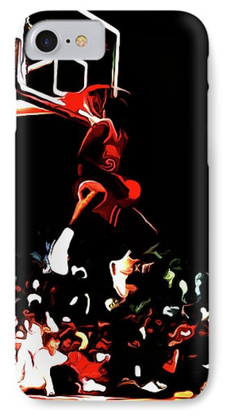 Michael Jordan Reverse Slam Dunk 2 IPhone Case by Brian Reaves