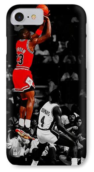 Michael Jordan Rises 1b IPhone Case