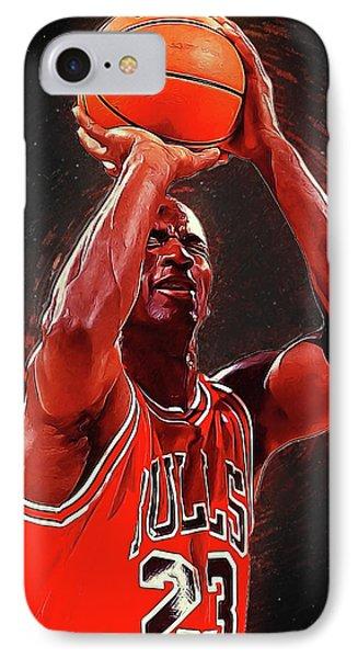 Larry Bird iPhone 7 Case - Michael Jordan by Semih Yurdabak