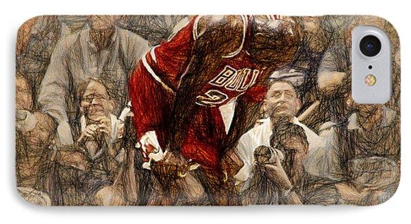 Michael Jordan The Flu Game IPhone Case