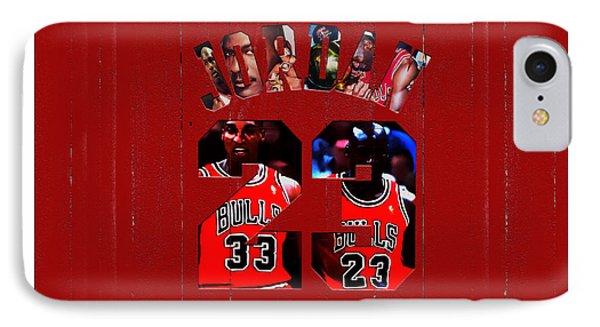 Michael Jordan Wood Art 1e IPhone Case