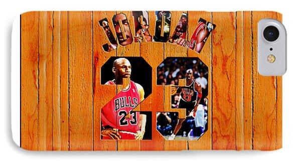 Michael Jordan Wood Art 1h IPhone Case