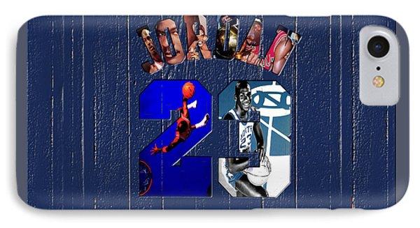 Michael Jordan Wood Art 2c IPhone Case