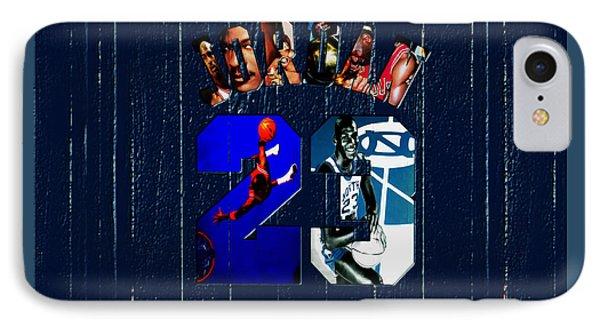Michael Jordan Wood Art 2f IPhone Case