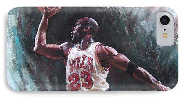 Bull iPhone 7 Case - Michael Jordan by Ylli Haruni