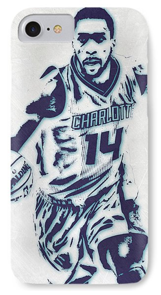 Michael Kidd-gilchrist Charlotte Hornets Pixel Art IPhone Case by Joe Hamilton