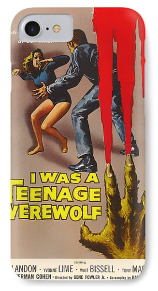 Michael Landon In I Was A Teenage Werewolf 1957 IPhone Case by Mountain Dreams