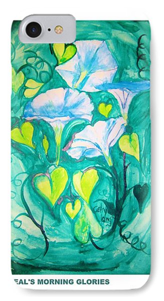 Micheal's Morning Glories IPhone Case by Cathy Long