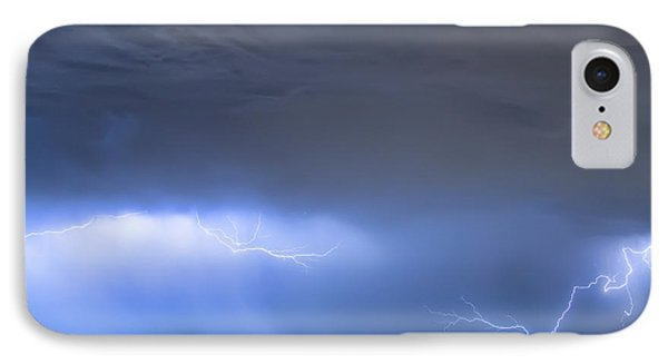IPhone 7 Case featuring the photograph Michelangelo Lightning Strikes Oil by James BO Insogna