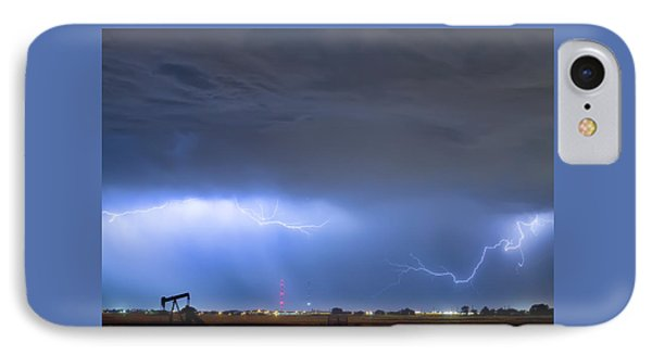 IPhone Case featuring the photograph Michelangelo Lightning Strikes Oil by James BO Insogna