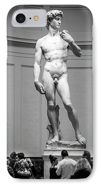 IPhone Case featuring the photograph Michelangelo's David by Sonny Marcyan