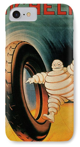 Michelin Tires Vintage Art Poster IPhone Case by Design Turnpike