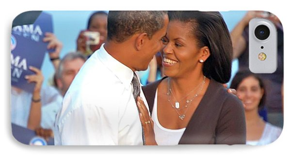 Michelle And Barack IPhone Case by Richard Pross