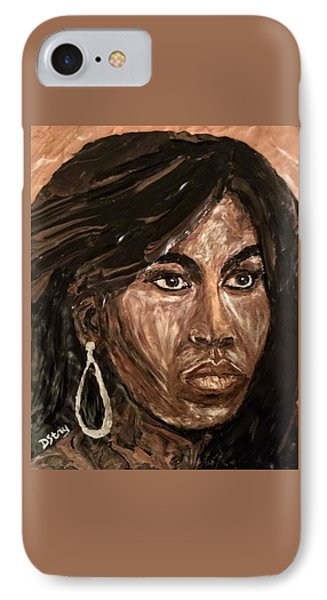 Michelle Obama A Class Act IPhone Case by Deborah Stanley