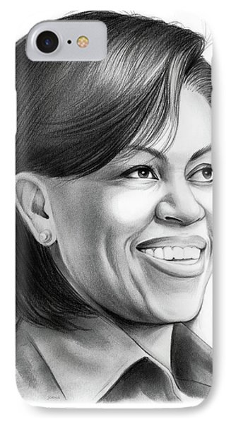 Michelle Obama IPhone 7 Case by Greg Joens