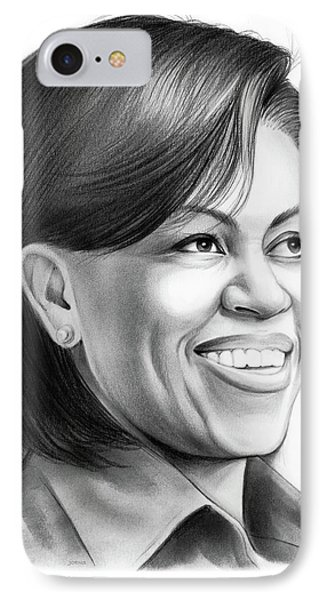 Michelle Obama IPhone Case by Greg Joens