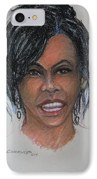 Michelle Obama IPhone Case by John Cummings
