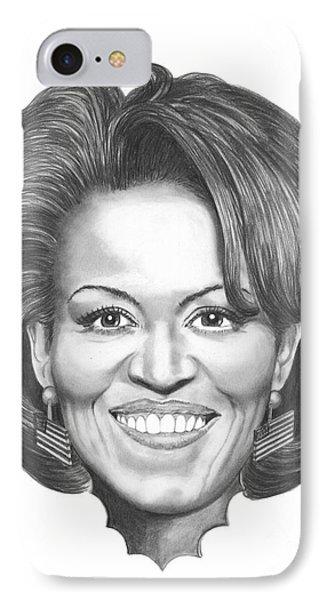Michelle Obama IPhone Case by Murphy Elliott