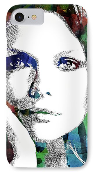 Michelle Pfeiffer IPhone Case by Mihaela Pater