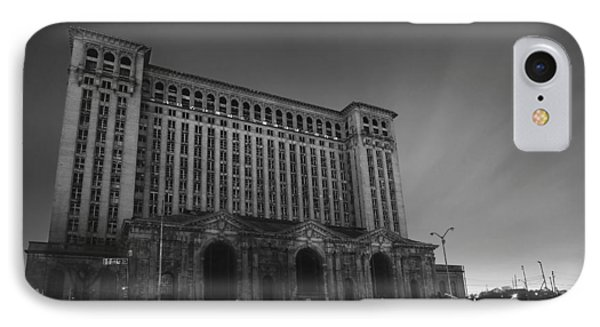 Michigan Central Station At Midnight Phone Case by Gordon Dean II