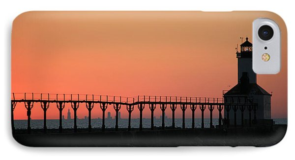 Michigan City East Pier Lighthouse IPhone Case by George Jones