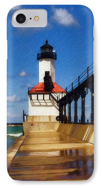 IPhone Case featuring the photograph Michigan City Light 1 by Sandy MacGowan
