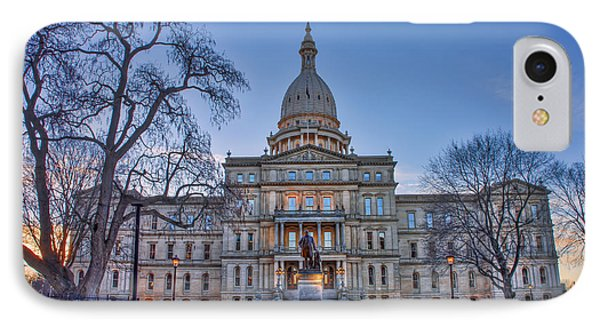 IPhone Case featuring the photograph Michigan State Capitol by Nicholas Grunas