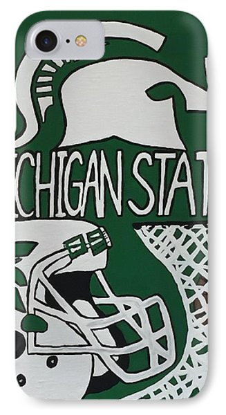 Michigan State Spartans IPhone Case by Jonathon Hansen