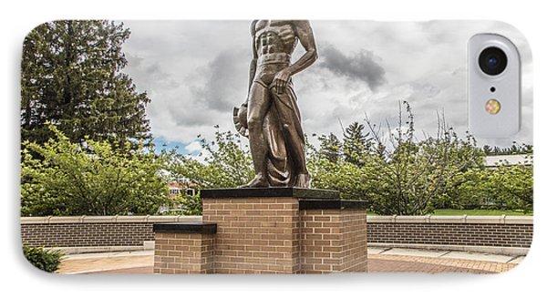 Michigan State - The Spartan Statue Phone Case by John McGraw