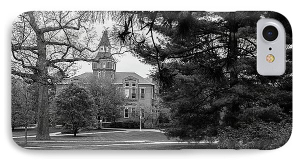Michigan State University Campus Black And White  IPhone 7 Case by John McGraw
