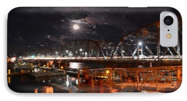 Michigan Street Bridge After Dark IPhone Case by Mark David Zahn