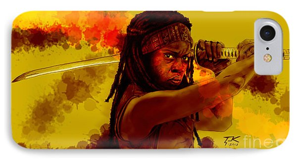 Michonne IPhone Case by David Kraig
