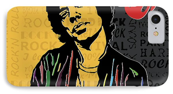 Mick Jagger IPhone Case by Roby Marelly