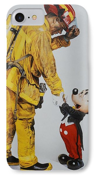 Mickey And The Bravest IPhone Case by Rob Hans