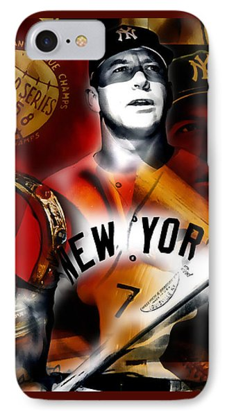 Mickey Mantle Collection IPhone Case by Marvin Blaine