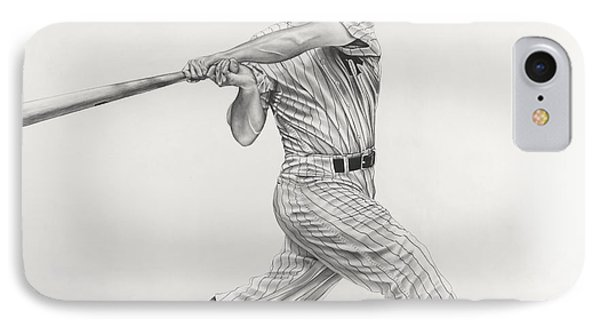 Mickey Mantle IPhone Case by Jon Cotroneo