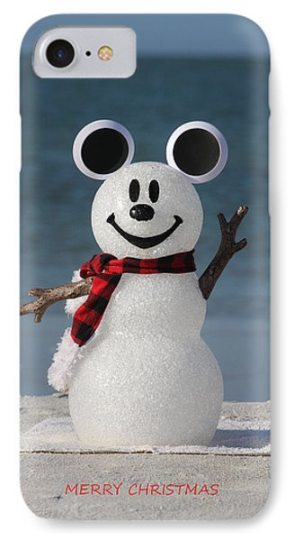 Mickey mouse snowman photograph by shari bailey