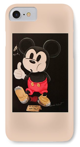Mickey On Tap IPhone Case by Susan Roberts