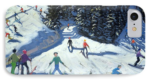 Mid-morning On The Piste Phone Case by Andrew Macara