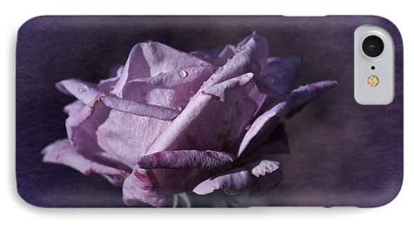 IPhone Case featuring the photograph Mid September Purple Rose by Richard Cummings