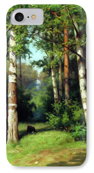 Midday Warmth In A Forest Impressionism IPhone Case