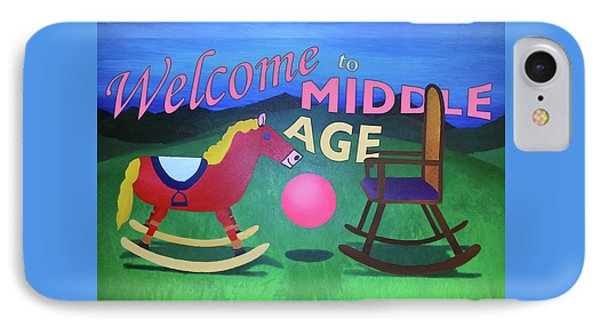 Middle Age Birthday Card IPhone Case by Thomas Blood