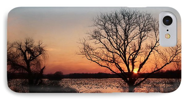 Middle Creek Sunrise 2 IPhone Case by Lori Deiter