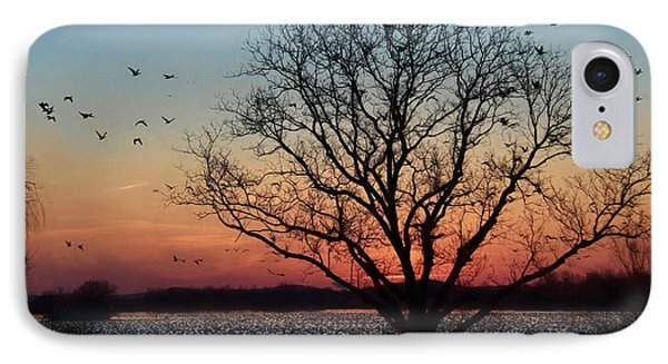 Middle Creek Sunrise 3 IPhone Case by Lori Deiter