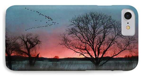 Middle Creek Sunrise 4 IPhone Case by Lori Deiter